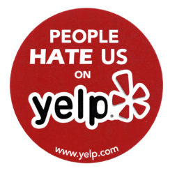 People Hate Us On Yelp Sticker